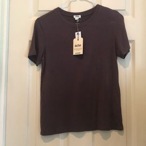 S garage NWT dark purple tee
